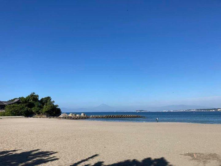 9月29日 朝の森戸海岸
